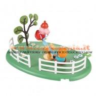 GIOCATTOLO PEPPA PIG IL PARCO GIOCHI LO DONDOLO E 1 PERSONAGGIO PEPPA PIG GEORGE COD 4182 Peppa Pig's See-saw Playground Playset