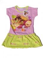 MASHA E ORSO Maglia - MAGLIETTA - T-SHIRT Vestito con balza bambina 6 anni art.VM09 rosa