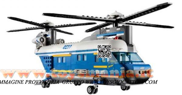 Elicottero Lego City : Lego elicottero da trasporto della polizia city