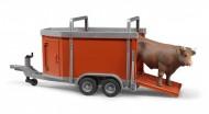 Bruder 02029  Rimorchio bestiame con toro