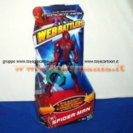 HASBRO THE AMAZING SPIDERMAN BATTLERS TRAPPIN WEB CLAW SPIDER WAVE 3 CM15 giocattolo hasbro