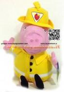 PEPPA PIG PELUCHE GEORGE POMPIERE CM 30 CIRCA
