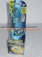 Robo fish led con luce , pesce blu 02292