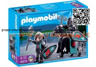 PLAYMOBIL 4873 TRUPPE D'ASSALTO CAVALIERI KNIGHT DEL FALCONE  PLAYMOBIL