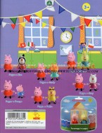 !!! PEPPA PIG !!! GIOCHI PREZIOSI , OFFERTA SERIE COMPLETA 6 BLISTER 12 PERSONAGGI  6 PEPPA PIG  , CANDY , REBECCA , ZOE , GEORGE , PEDRO , CCP 04430