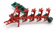 Britains 43049 aratro Kverneland Plough & Kverneland Packmat scala 1/32 in metallo e plastica