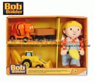 BOB THE BUILDER , BOB AGGIUSTATUTTO , ASSORTIMENTO FORMATO DA TROTTOLA ,SCOOP , E IL PUPAZZO DI BOB COD LC 65569