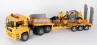 !!!!! STOP !!!!! Bruder limited edition Bruder camion Bruder MAN TGA bilico trasporta CAT benna telescopica [ cod 02775 + 02141 ]