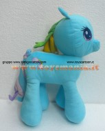 PELUCHE MY LITTLE PONY Rainbow Dash PELUCHE MIO MINI PONI AZZURRO RAINBOW DASH ORIGINALE DI CIRCA 45 CM