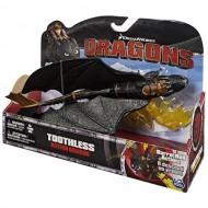 NUOVO MODELLO dragon trainer toothless barrel roll DRAGON TRAINER RUOTA SU SE STESSO! CON L ALI DI FUOCO