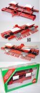 siku modellino scala 1/32 fuori produzione ultimo pezzo seminatrice Siku 2651 Saatbeet-Kombination, verkehrsrot, einige Haken abgebrochen, L15, OVP