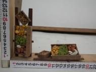 Millenium Christmas presepe ambientazione con carretto/carro contadino con prodotti alimentari