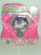 JEWELPET !!!!! JEWEL LIP GLOSS !!!!BRACCIALETTO COLOR VIOLA CON JEWELPET E 1 LIP GLOSS COD 12243