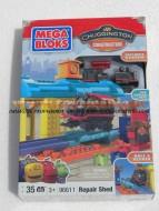 !!! Chuggington  new !!!! Chuggington in Allenamento - personaggio Chug-Garage con Old Puffer Pete MEGA BLOKS COD 99610 , giocattoli , toys , BRINQUEDOS ,JUGUETES , JOUETS