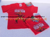 T-SHIRT MANICA CORTA CON L'INVINCIBILE IRON-MAN MARVEL, MAGLIA ROSSA THE INVINCIBLE IRON MAN