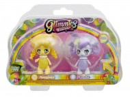 Giochi Preziosi - Glimmies Rainbow Friends Blister Doppio, Honeymia e Renelka