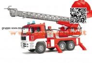 BRUDER Camion dei pompieri con casco ROSSO Bruder 01981 COD 02771 LIMITED EDITION