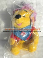 PELUCHE ,DISNEY WINNIE POOH ,personaggio vestito da cauboi,Winnie the Pooh TG 3 ALTEZZA CM 30