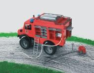 Bruder MB Unimog camion Pompieri con luci e suono[ cod 02480 ]