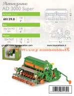 MODELLINO DELLA ROS MODELLO SEMINATRICE AMAZONE D9 3000 SUPER SCALA 1 /32