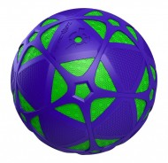 REACTORZ SPIN MASTER PALLA CON LUCE LED MODELLO PALLA VIOLA CON LUCE VERDE - Light-up Soccer Ball - Green Core & Purple Shield