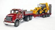 Bruder 02813 Camion con scavatore Mack e JCB 4CX scala 1/16 [ cod 02813 ]