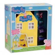 LA GRANDE CASA DI PEPPA PIG CON 2 PERSONAGGI PEPPA PIG E GEORGE PIG CON IL DINOSAURO  CCP 02820