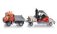 Siku novita' camion Unimog con Carrello elevatore scala 1/55 cod 2522