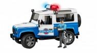 Bruder - Land Rover Defender Polizia con Luci e Suoni 02595