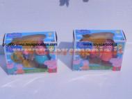 La famiglia di Peppa Pig con accessori  di Giochi Preziosi - Serie completa formata da Papà Pig e George , Mamma Pig e Peppa cod. 05320