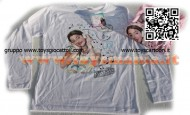 T-shirt VIOLETTA - Manica lunga colore ROSA