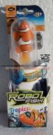 !!! Novità Robo Fish , ROBOT FISH TROPICAL !!!! GIOCATTOLO ,TOYS ,ROBOT PESCE , PESCI PAGLIACCIO IN CONFEZIONE SINGOLA color arancio  COD NCR02239