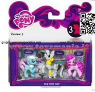My little pony mini Hasbro Lotus Blossom , Zecora , Pinkie Pie  A0266
