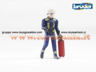 Bruder 60100  Pompiere con elmetto guanti e accessori [ cod 60100 ] scala 1/16