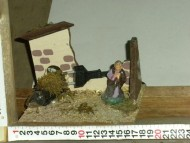 Millenium Christmas. Fuoco a luce con all'interno la sacra famiglia! Un'ambientazione pefetta!! cod.359
