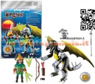 PLAYMOBIL 5465 DRAGO FULMINE CON GUERRIERO 5465 PLAYMOBIL