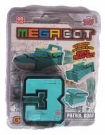 MEGA BOT - MEGABOT GRANDI GIOCHI - CREA IL TUO ROBOT MODELLO NUMERO 3 - PATROL BOAT