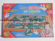 gioco dell'oca gigante giocabile sia in casa che fuori casa come tappeto rdf50590