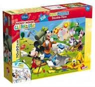 Mickey Puzzle Doppia Faccia Supermaxi, 108 Pezzi di Lisciani Giochi 48267 doouble-face