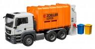 Man TGS Camion Trasporto Rifiuti arancio caricamento posteriore Bruder 03762