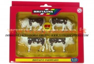 BRITAINS ACCESSORI PER MODELLISMO AGRICOLO ANIMALI SET BOVINI hereford SCALA 1/32 COD 40964