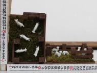 Millenium Christmas presepe ambientazione recinto con pecore e muschio