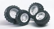 Bruder 02323 Ruote bianche per trattori SUPER-PRO serie 02014 scala 1/16 [ cod 02323 ]
