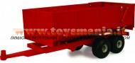 !!!! NOVITA' !!!! BRITAINS SCALA 1 / 16 TIPO BRUDER , COMPATIBILE CON GLI ATTACCHI  MODELLO  Semirimorchio ribaltabile 2 assi (rosso)  COD LC 42430