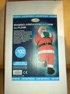 Babbo Natale arrampicatore su fune Santa Claus altezza 100 uso esterno