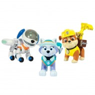 PAW PATROL ROBODOG + EVEREST + RUBBLE Special 3-Pack BOX 3 Figure Action SPIN MASTER