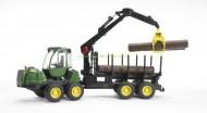 Bruder 02133 novita' John Deere 1210E Forwarder trasporto 4 tronchi c/ braccio meccanico[ cod 02133 ]