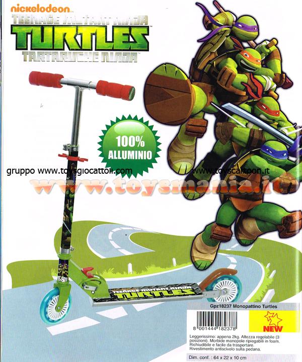 Tartarughe ninja novita 39 nuovo monopattino in for Prezzo tartarughe