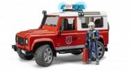 Land Rover Defender Station Wagon Pompieri, luci e suono e pompiere Bruder 02596