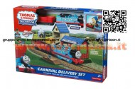 Playset Fisher Price Y8990- R9489 -Thomas e Friends - Consegna al Luna Park con Thomas motorizzato